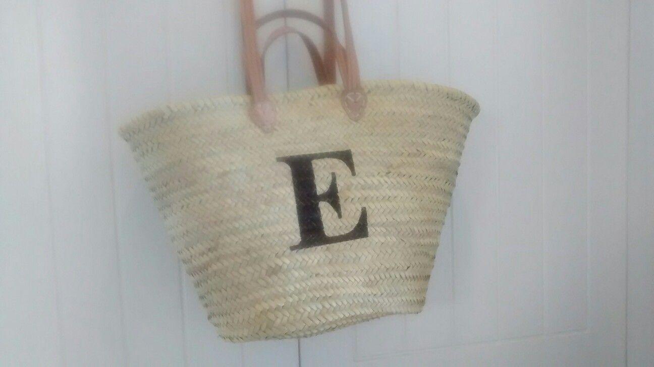 Personalised beach basket by Roam Devon Customised Beach Bag Beach ...