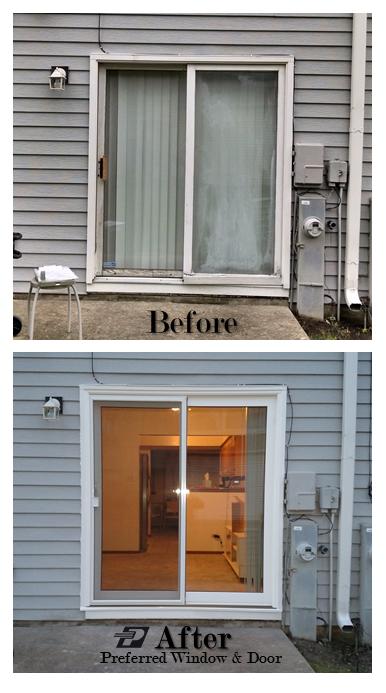 Patio Door Replacement By Preferred Window And Door No More Seal Failure And No More High Maintenance Woo Replacement Patio Doors Window Installation Doors