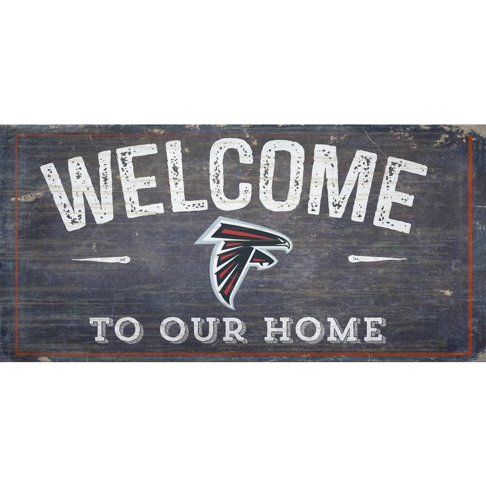 Adventure Furniture Atlanta Falcons Wood Sign N0654 Atl Fan Creations Welcome Sign Distressed Signs
