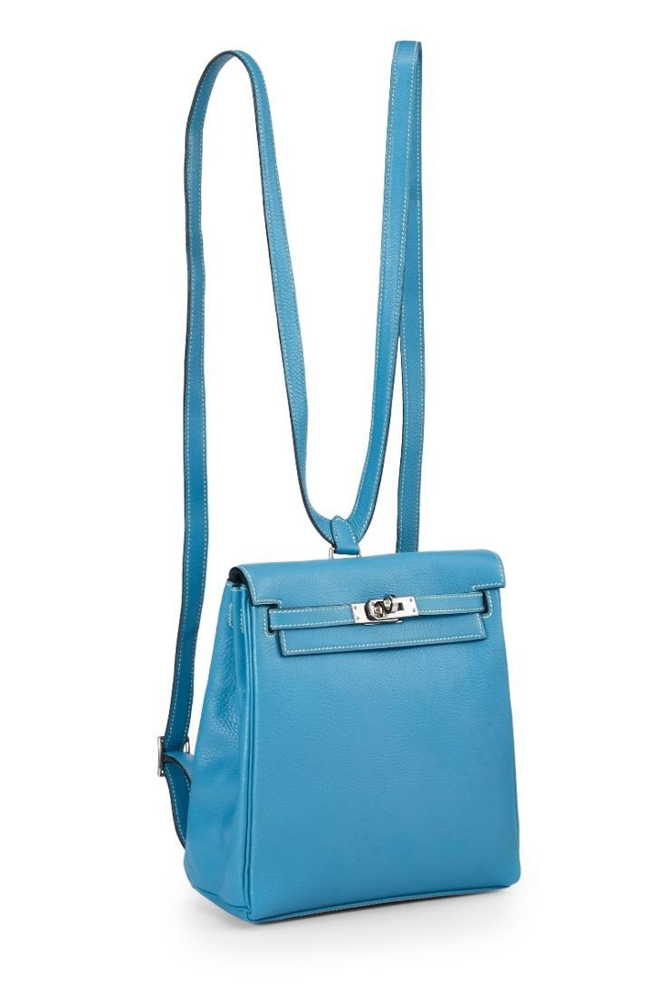 174ecf6fbf What Goes Around Comes Around Blue Jean Togo Kelly Ado 20Cm - Hermès