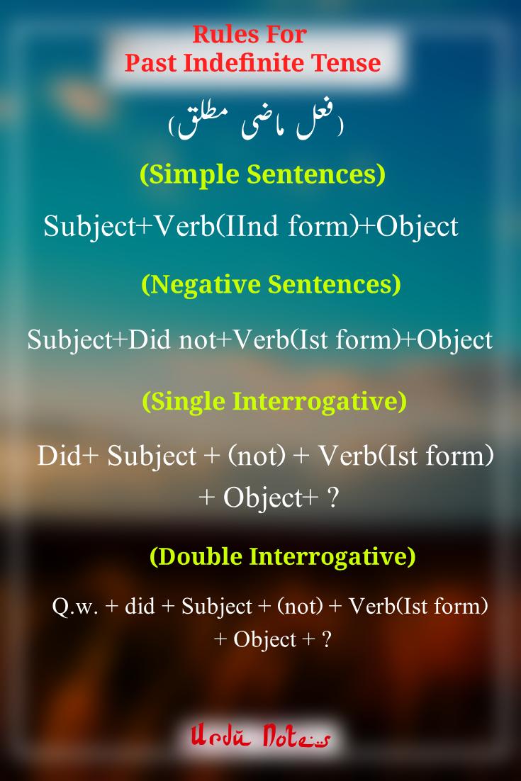 Past Indefinite Tense Rules Past Indefinite Tense Past Tense Worksheet Tenses [ 1102 x 735 Pixel ]