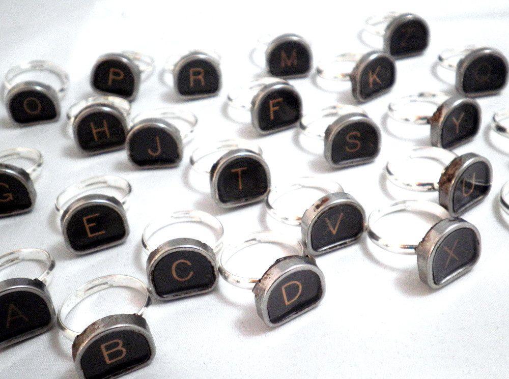 Vintage Royal Typewriter Alphabet Rings!