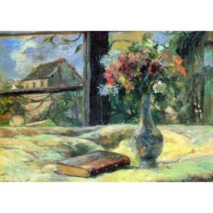 WM0059-Flower Vase in Window by Gauguin
