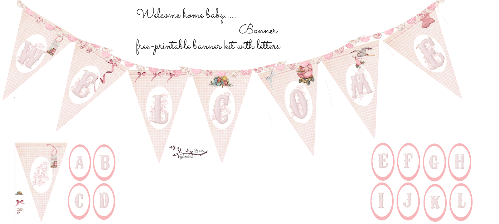 photo about Welcome Baby Banner Free Printable identified as Welcome Household Little one-Female Banner Do It You Nowadays
