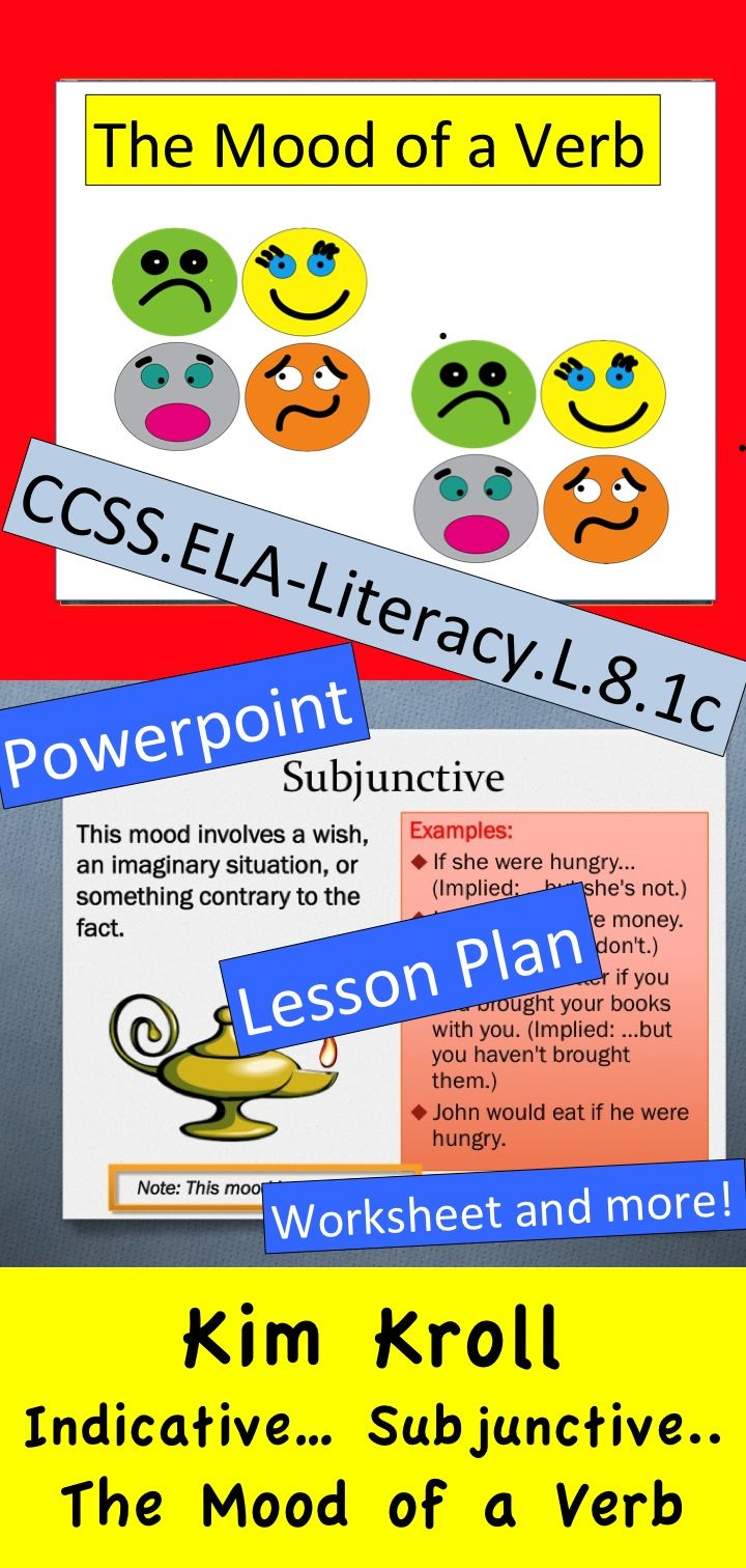8th Grade Common Core Lesson Powerpoint Worksheet And More Verbs Lessons Lesson Teacher Help [ 1512 x 720 Pixel ]