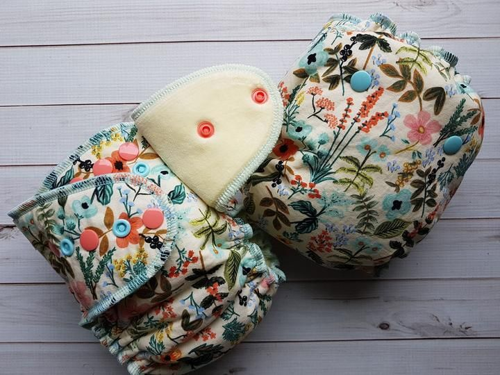 Herb garden newborn fitted diaper creations fitted