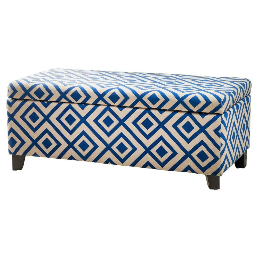 Pleasing Breanna Storage Ottoman Navy Blue Christopher Knight Caraccident5 Cool Chair Designs And Ideas Caraccident5Info