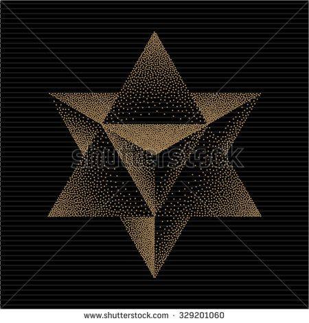 Merkaba Or Star Of David Mysticism Sacred Geometry Sign Hipster