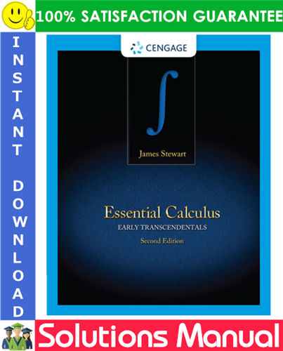 Essential Calculus Early Transcendentals 2nd Edition Solutions Manual By James Stewart Calculus Application Of Differentiation Solutions