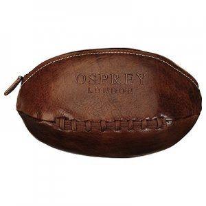 4880ba6ba7 Osprey London wash bag - men s leather toiletries bag shaped like a rugby  ball!