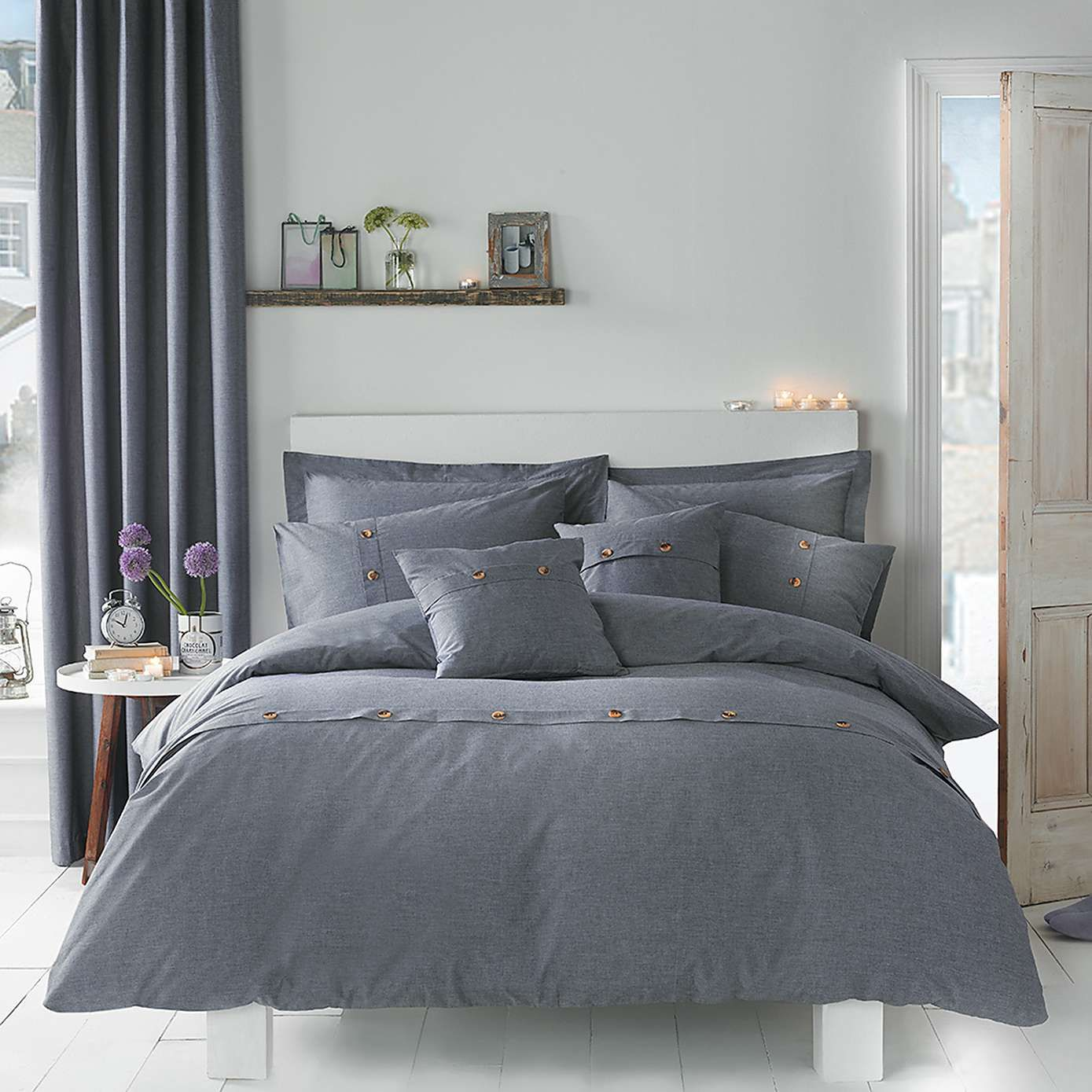 cover twin reversible unison chambray duvet sand stone