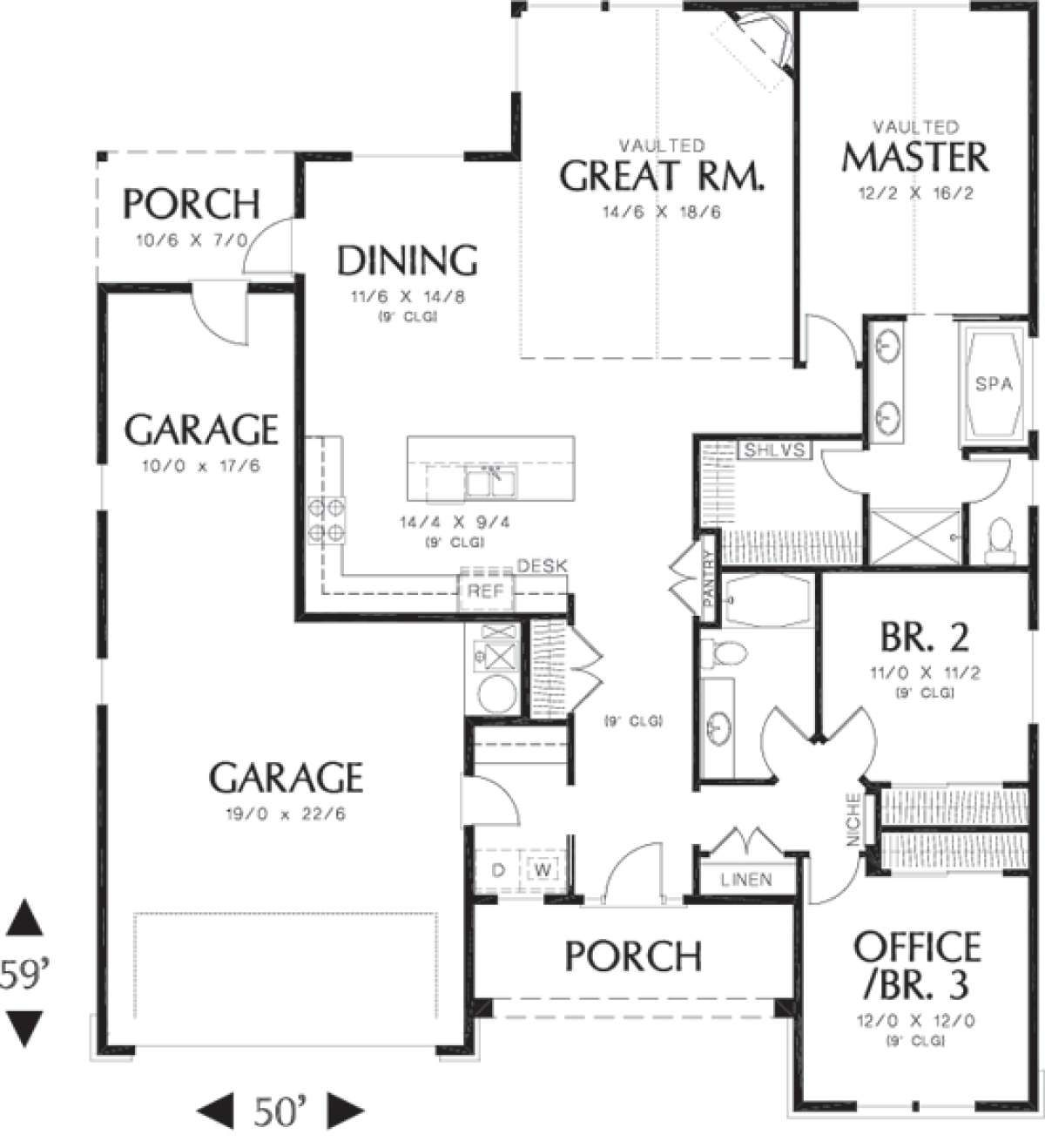 House Plan 2559 00092 Country Plan 1 797 Square Feet 3 Bedrooms 2 Bathrooms In 2021 House Plans One Story Craftsman House Plans House Plans And More