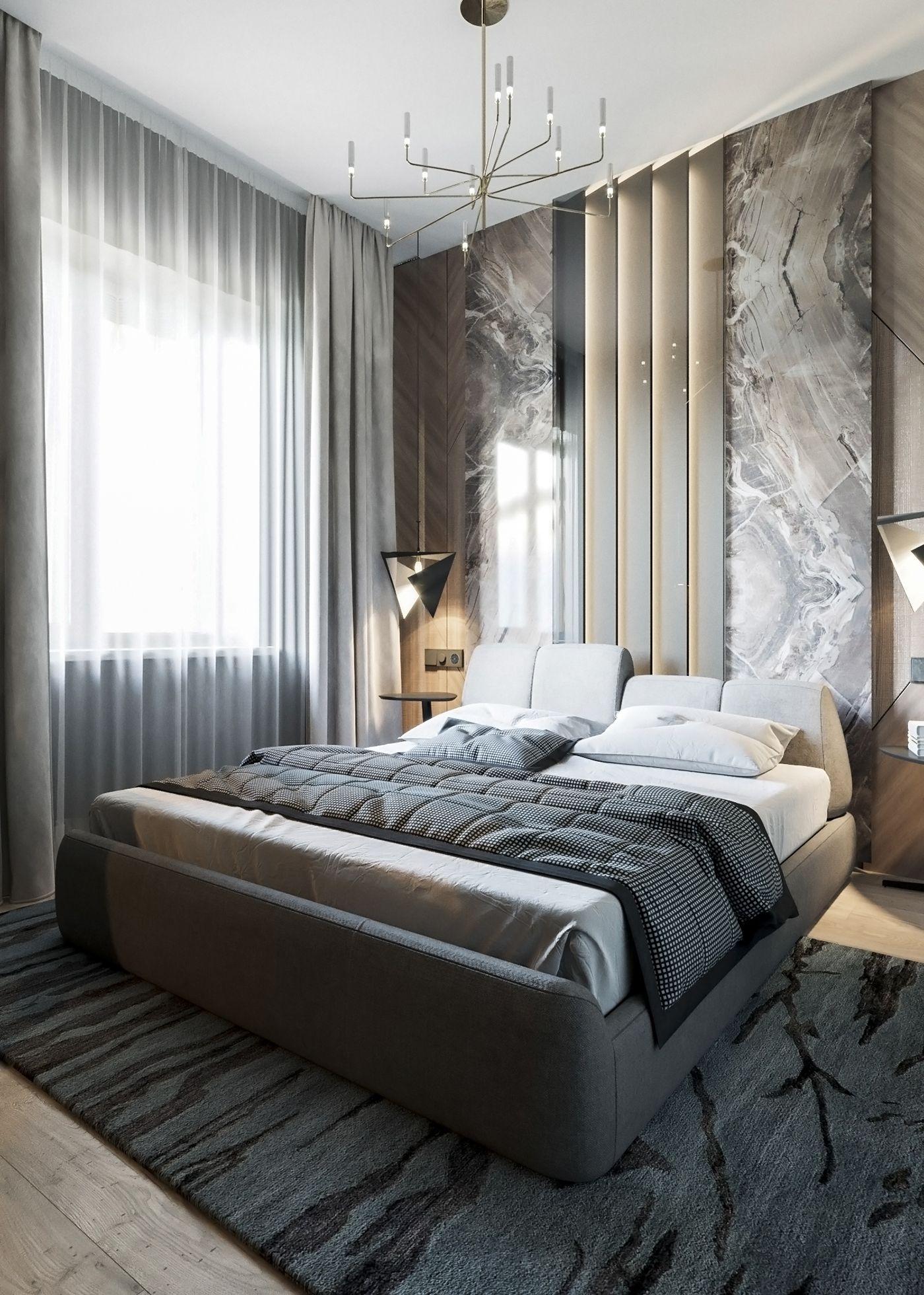 BEDROOM on Behance | Modern luxury bedroom