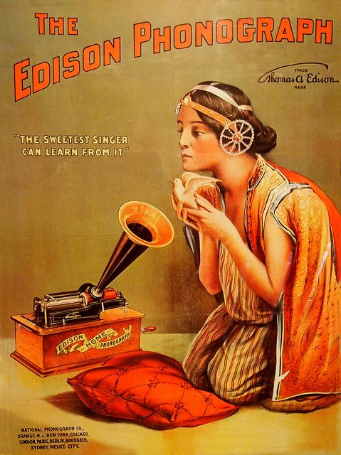 Image result for Phonograph edison