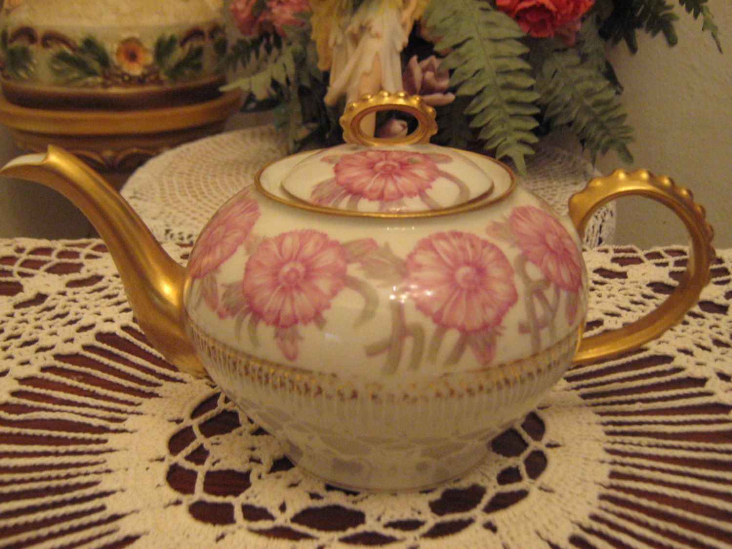 Antique Alfred Laternier Limoges France Teapot by alilacollections