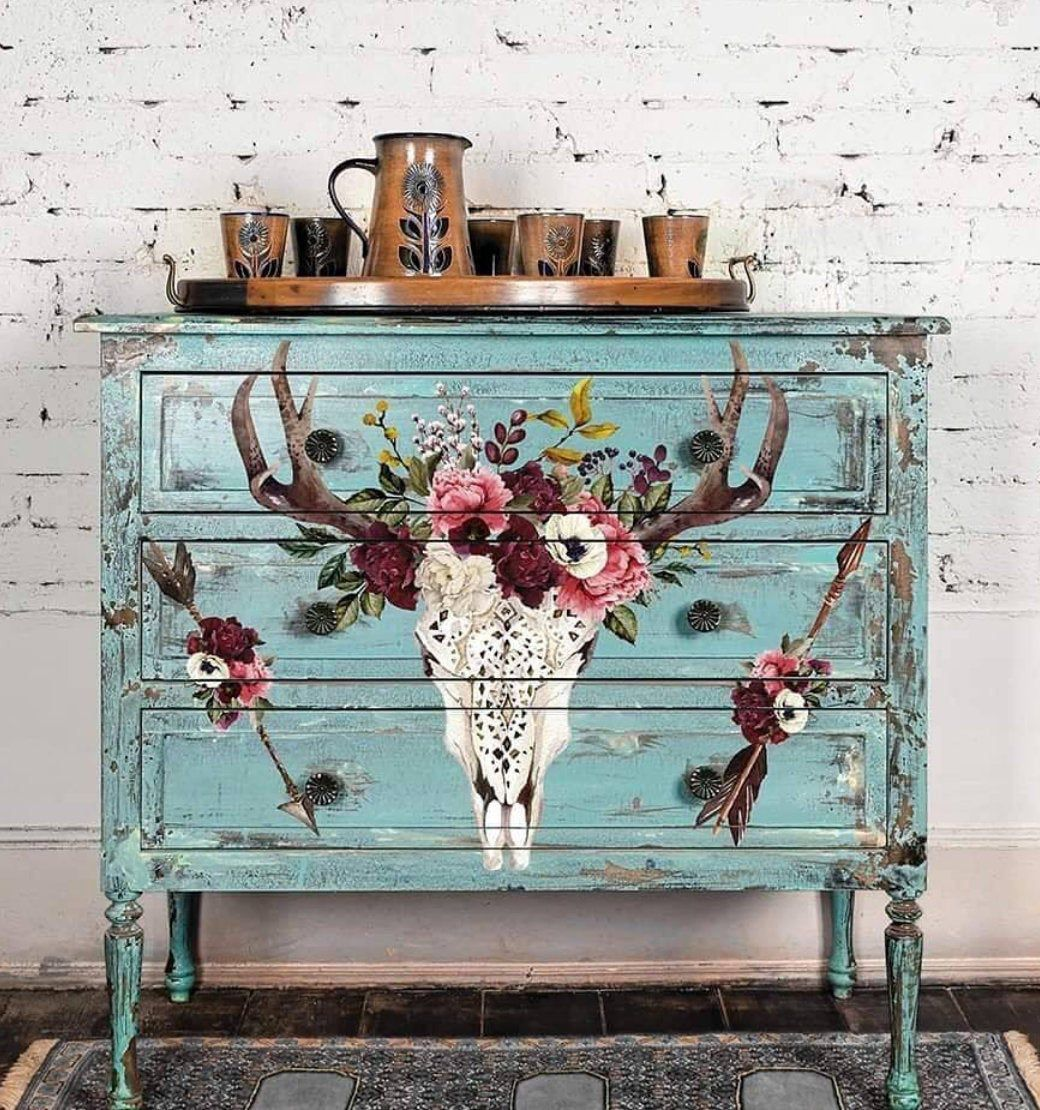 Rub On Transfers For Furniture Furniture Decals Redesign With Prima Transfers Beautifully Native Rose Furniture Transfers In 2021 Decoupage Furniture Refinishing Furniture Funky Furniture
