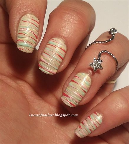 Sugar spun nails by daysofnailartnl from Nail Art Gallery