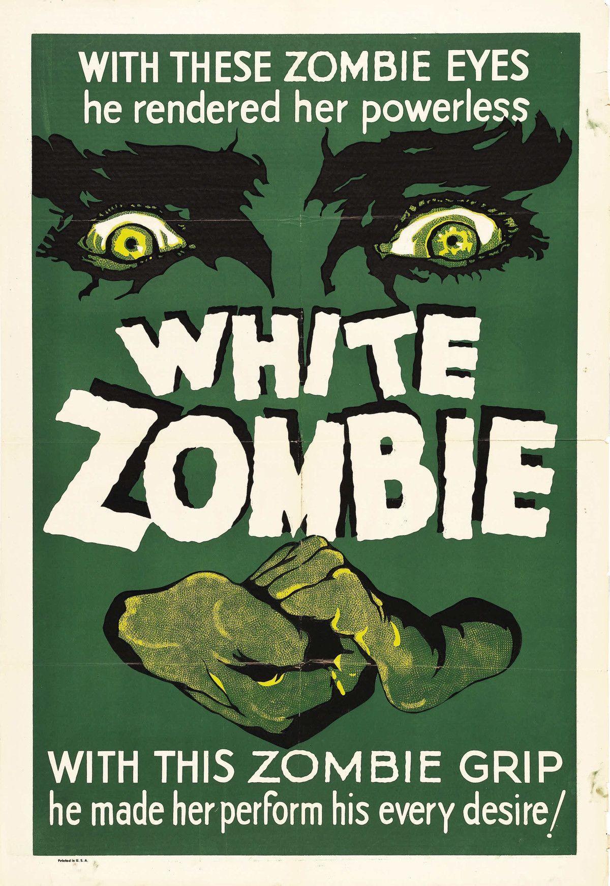 White Zombie Lugosi Horror Film Posters Movies Horror Movie