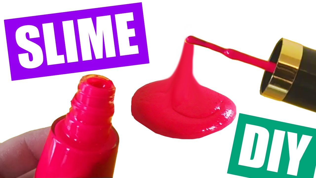 How To Make Slime With Nail Polish Without Glue Nail Polish Slime Diy By