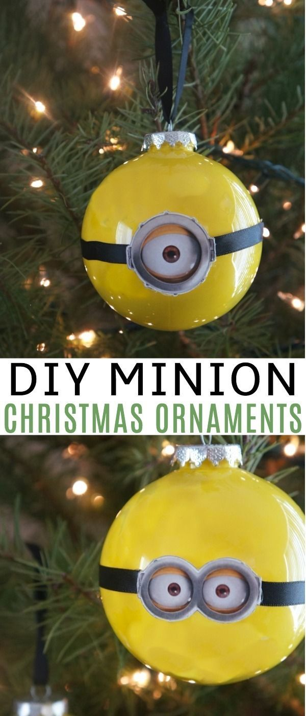 these diy minions christmas ornaments are so much fun to make for your tree this year were excited for the release of despicableme 3 out on dvd and