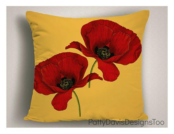 Outdoor Pillows Red Yellow Patio Pillow Pillow Cushion Spring Throw Pillows Outdoor Pillows Red Yellow Decorative Pillows