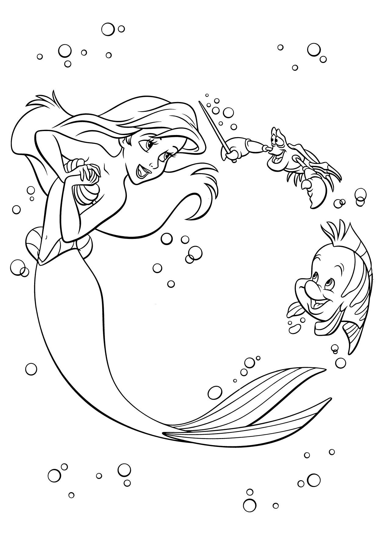 disney coloring book pdf 01 Disney coloring pages, Ariel