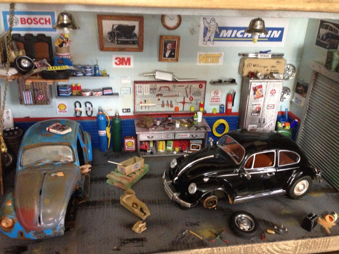 Diorama auto diorama garage by g kdo an pinterest for Garage credit auto 0