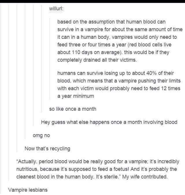 Vampire tumblr posts