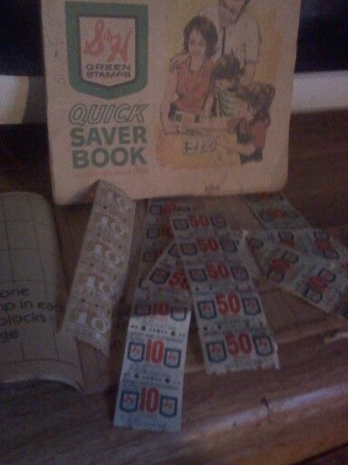 I was also given a box of S&H old books of green stamps and loose stamps here recently! I remember going to the redemption center with my grandmother in 1973 in South Miami!