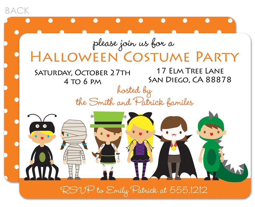 Costume Party Invitation | Party invitations, Halloween costume ...