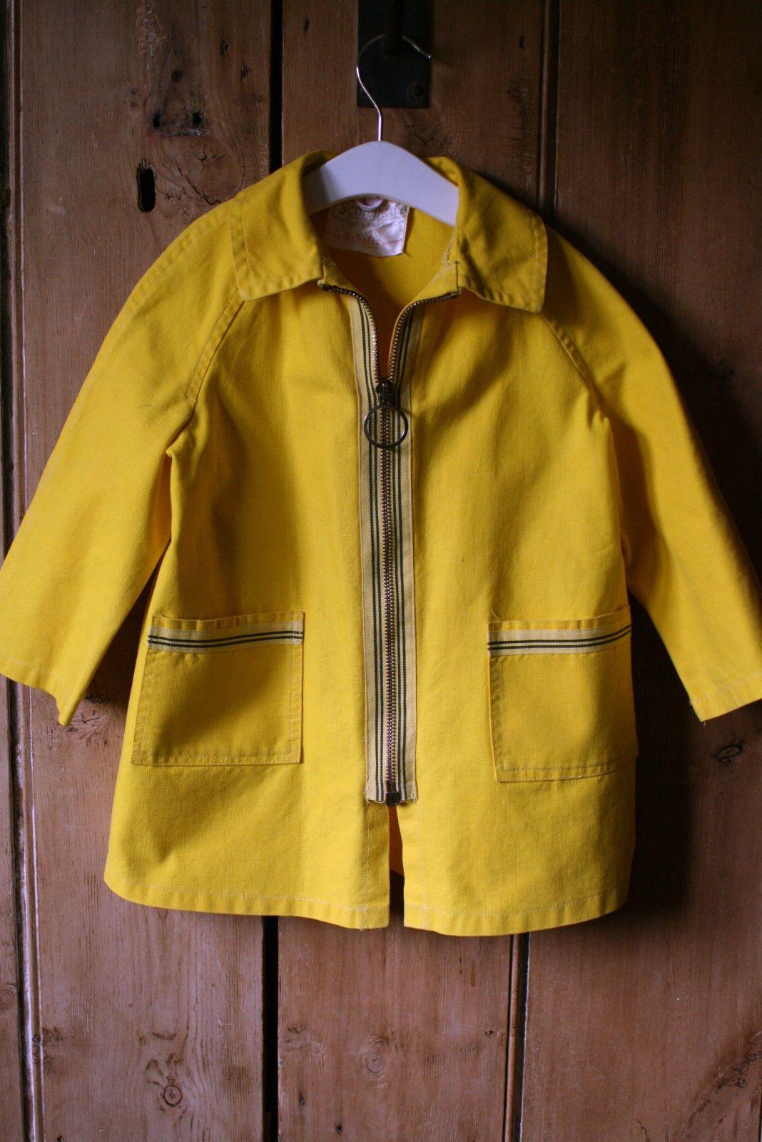 Vintage 'Scotchguard' boys or girls 1960's yellow raincoat ...