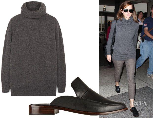 Emma Watsons Joseph Fine Knit Cashmere Turtleneck Sweater Tibi