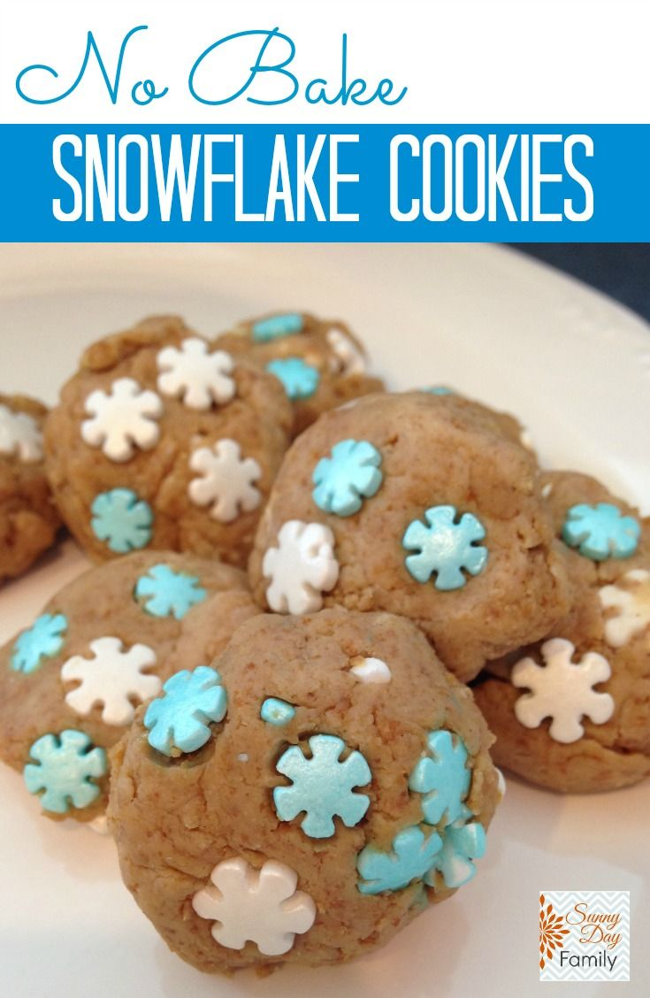 No Bake Snowflake Cookies With Images Winter Snack Cookies