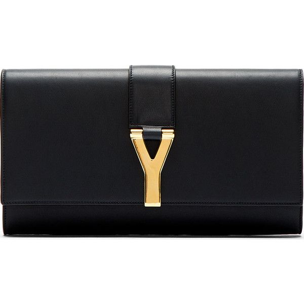 Saint Laurent Navy Ligne Y Clutch (€700) ❤ liked on Polyvore featuring bags, handbags, clutches, clutches / wallets / purses, navy purse, navy leather purse, navy blue handbags, structured purse and navy blue purse