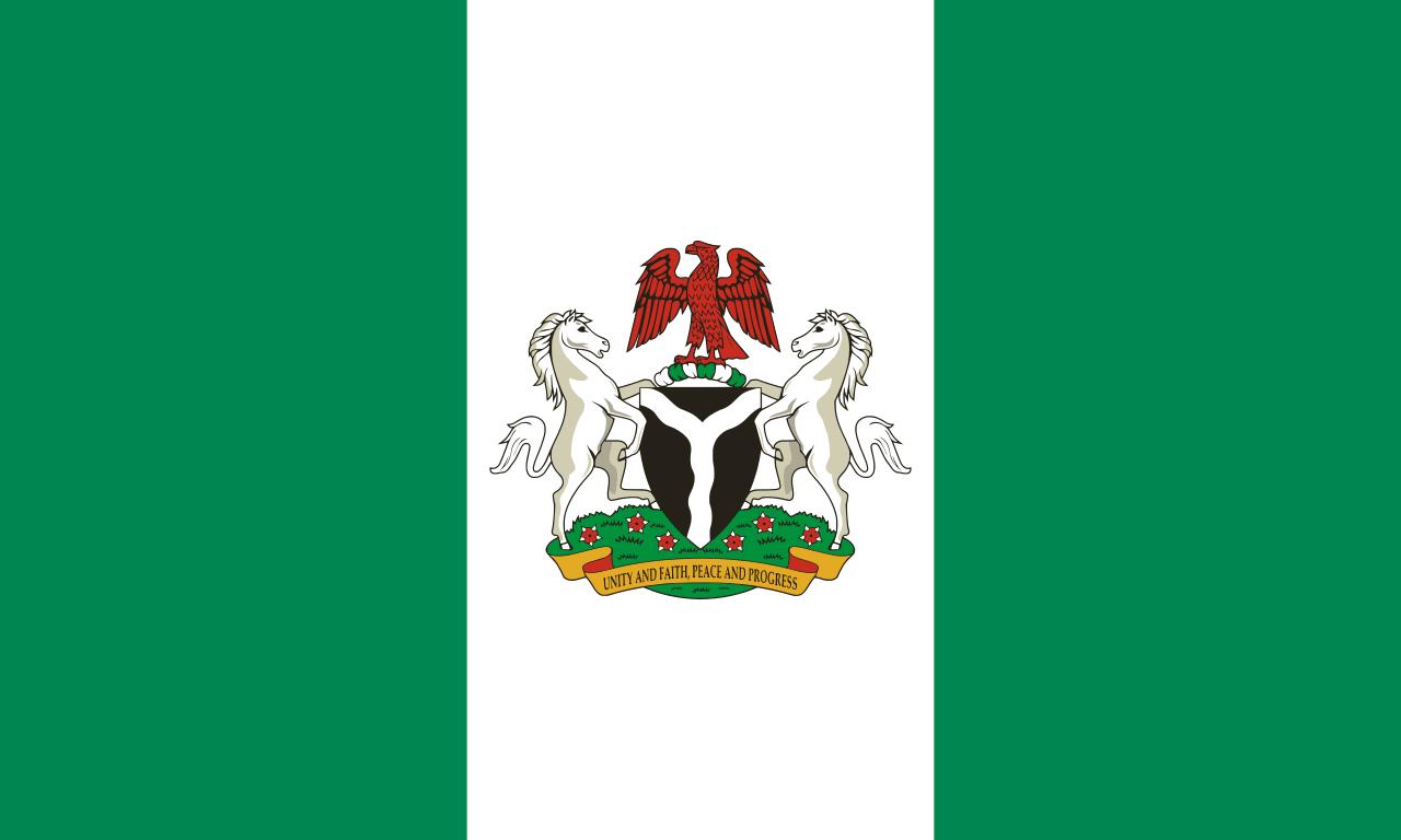 Bandeira presidencial da Nigeria. Presidential Standard of Nigeria ...