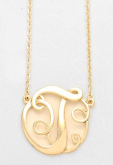 Monogram initial necklace 15 letter t pendant gold chain monogram initial necklace 15 letter t pendant gold chain aloadofball Images