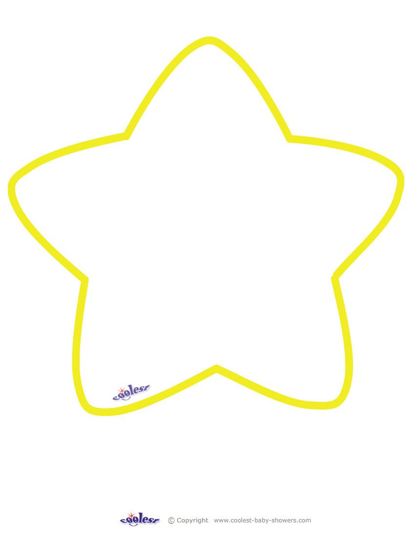 Large Printable Yellow Star With Images Star Template Star