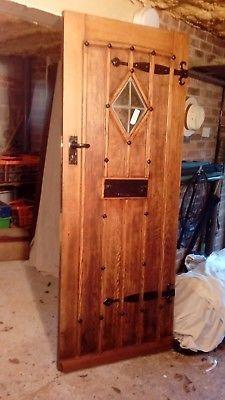 solid oak front door early 1900 s refurbished with all door