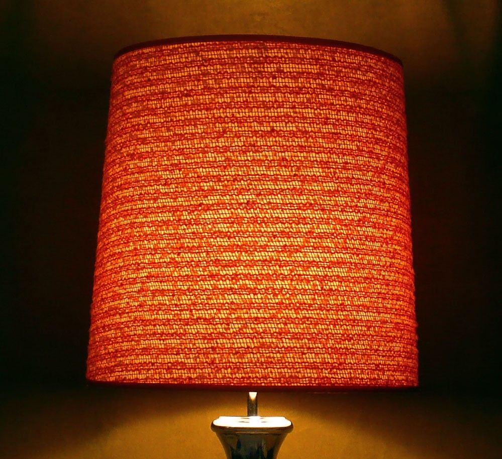 Lovely Vintage Orange Lamp Shade   Google Search