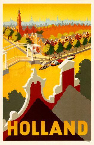 THE NETHERLANDS - Vintage travel poster - Holland