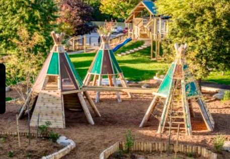 Teepee 3 in 2019   Diy playground, Natural playground ...