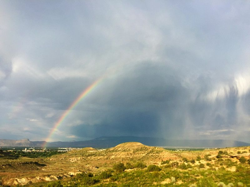 Rainbow over the Grand Valley