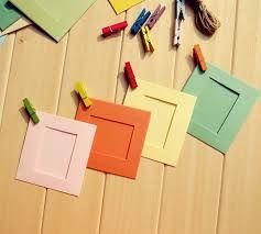 Diy Photo Frame Cardboard Simple Card Frames Can Make Any Wall