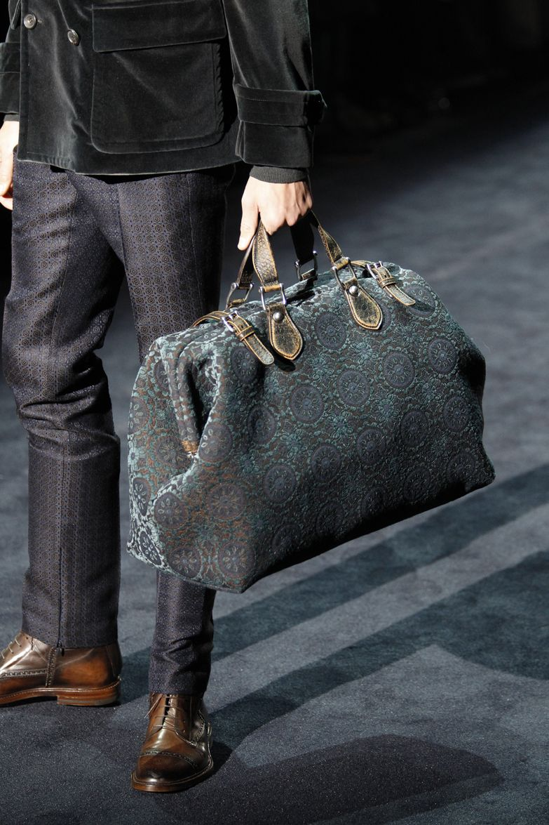 d229cd8fb47c Gucci Men's Fall Winter 2012-2013 Collection: Helmut Jacquard Cotton Carry-on  Duffle Bag