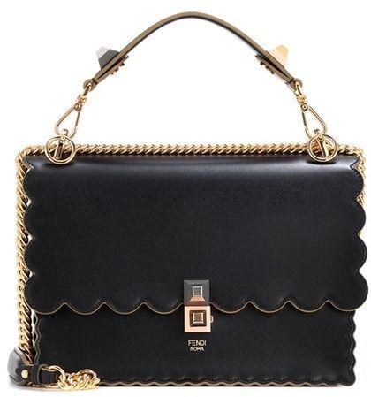 611ad26886b3 Fendi Kan I leather shoulder bag
