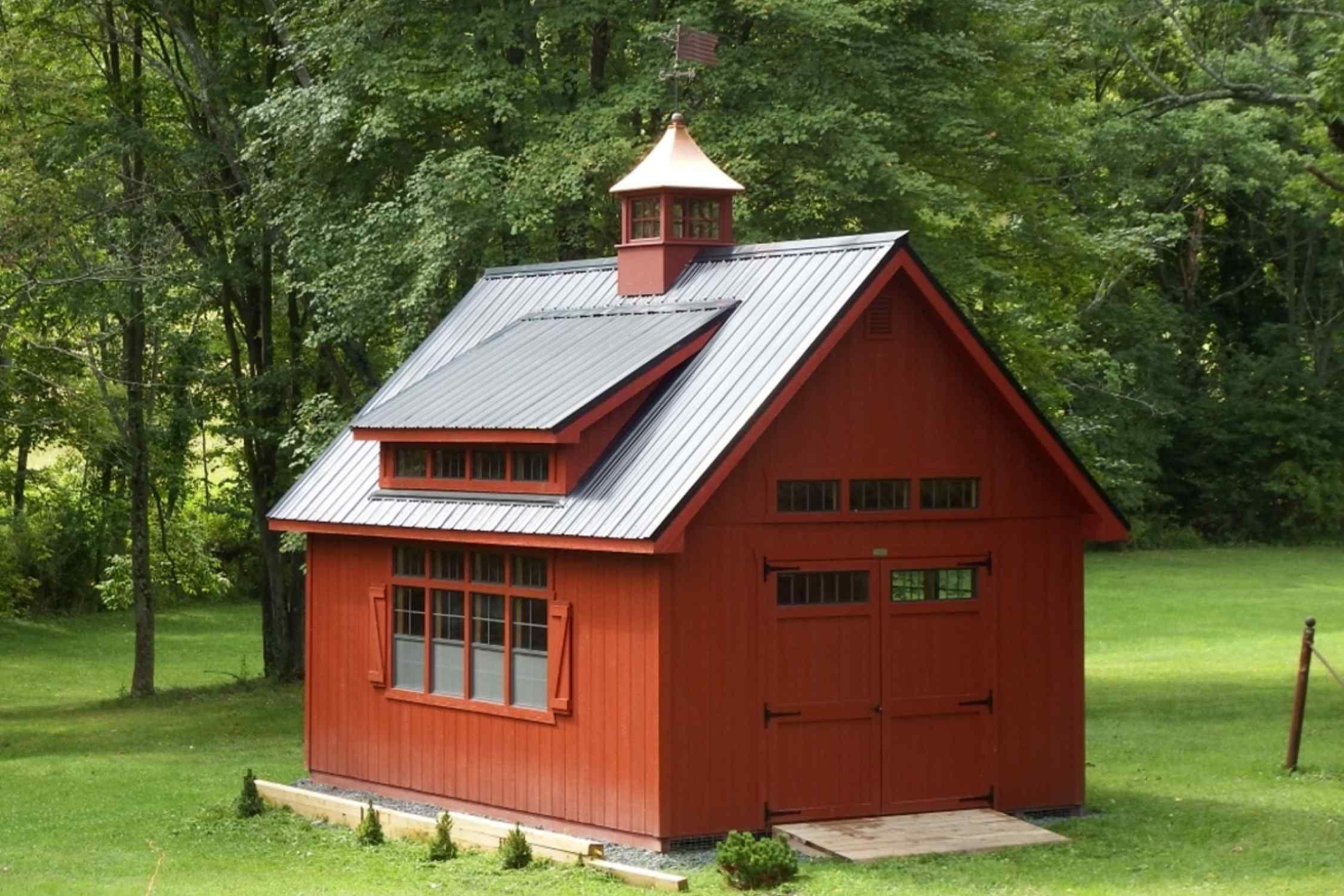 14x20 Colonial Barn Duratemp Siding Metal Roof 4 Transom Dormer 2 Additional Windows 7 Transom Windows Price As Farmhouse Garage Shed Homes Garage Design