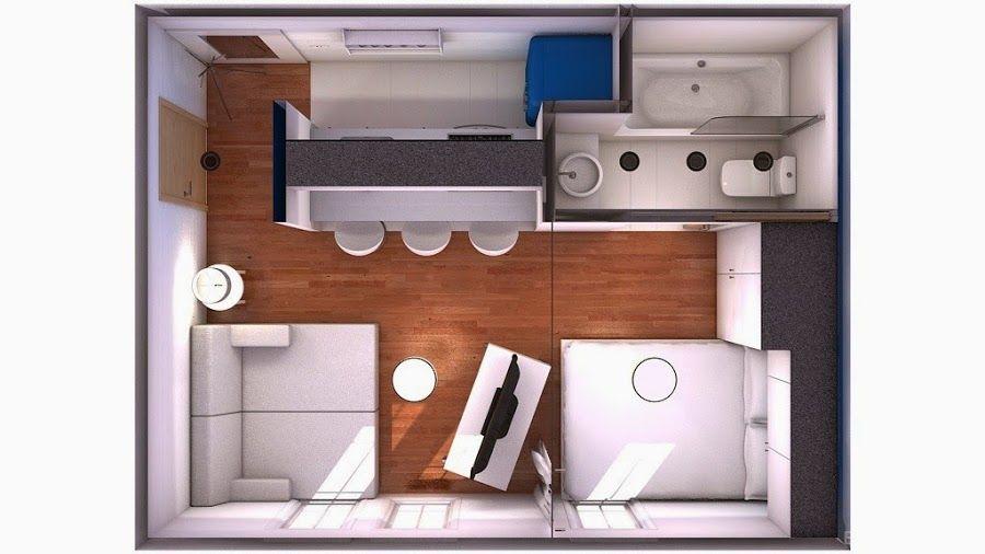 Minipiso 22m2 casas peque as peque os y apartamentos for Decorar un minipiso