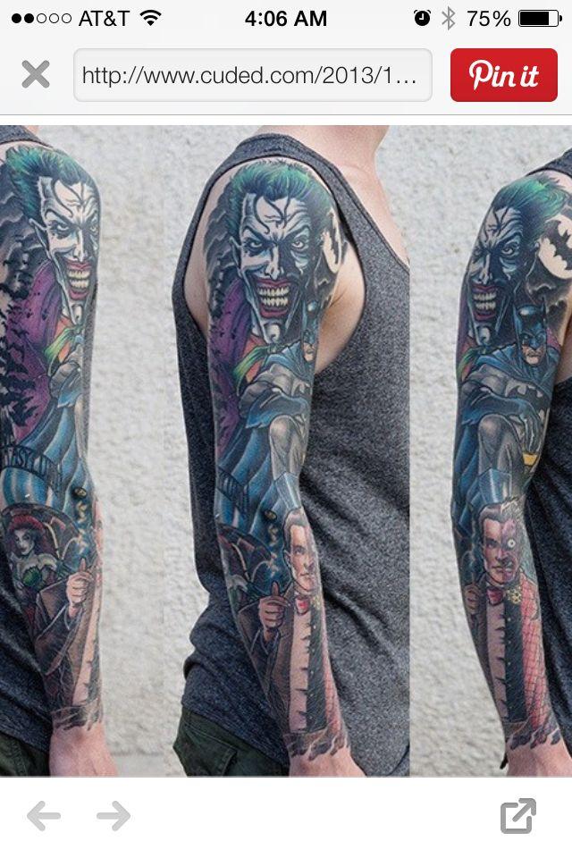 8e01cbeab Batman sleeve | Tattoos | Sleeve tattoos, Hulk tattoo, Tattoo designs