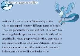 Articuno personality