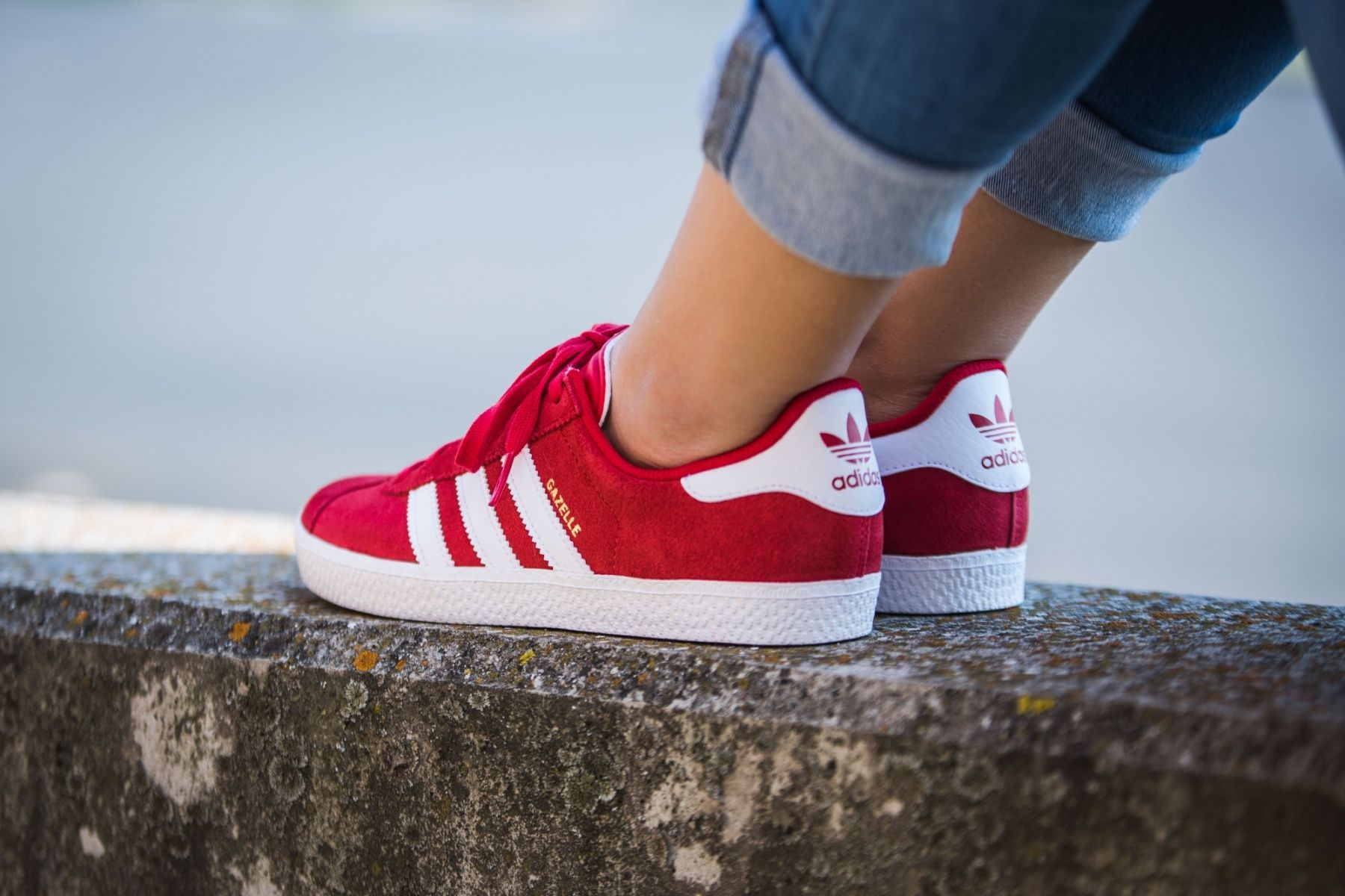 Gazelle rosse uomo donna adidas shoes scarpe